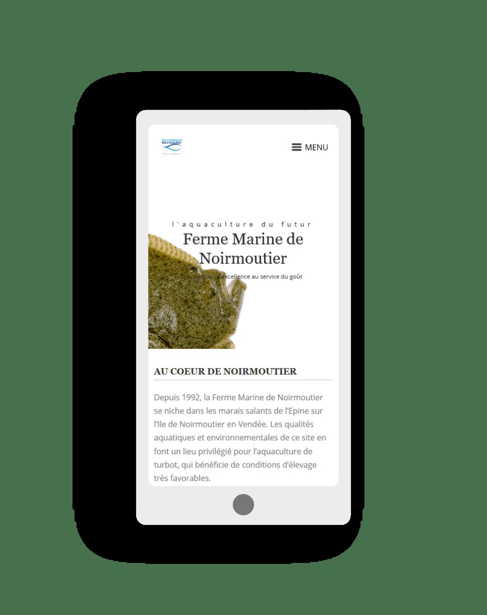 mockup smartphone pour le site ferme marine de noirmoutier