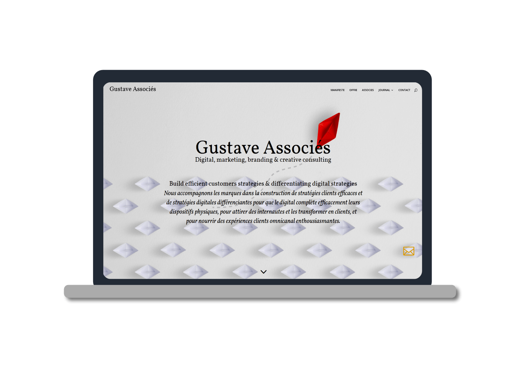 mockup macbook pro pour le site gustave associes