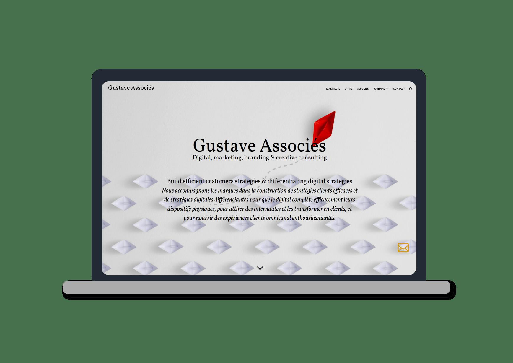 mockup macbook pro pour le site gustave associes